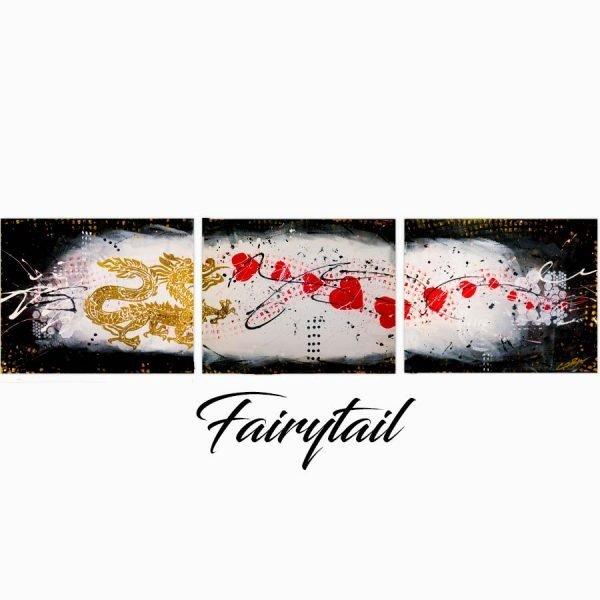 Abstract Dragon Art - Fairytail - 60 x 16 x 0.75