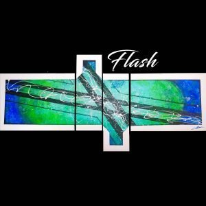 Green and Blue Abstract Art - Flash - 60x30x0.75