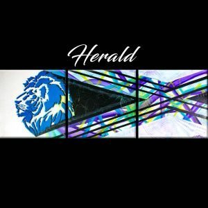 Abstract Lion Artwork - Herald - 60x20x0.75 - Main