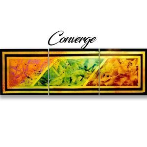 Abstract Orange & Purple Art - Converge - Main