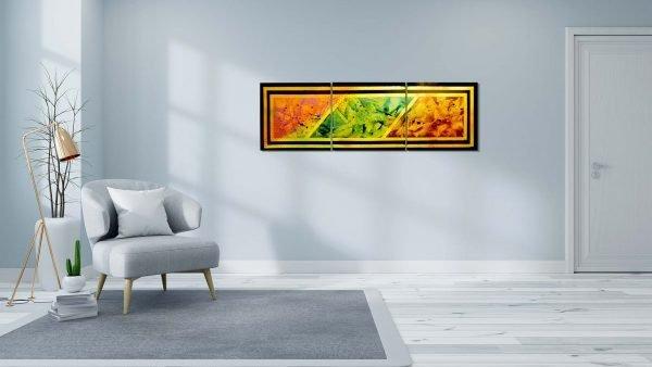 Abstract Orange & Purple Art - Converge - Sitting Room