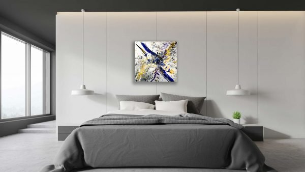 Abstract Purple & Gold Art - Lucent - 30x30x1.75 - Bedroom