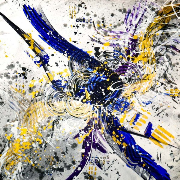 Abstract Purple & Gold Art - Lucent - 30x30x1.75 - Main