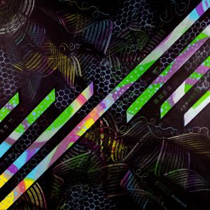 Abstrct Black & Neon Acrylic Art - Utopia - Main