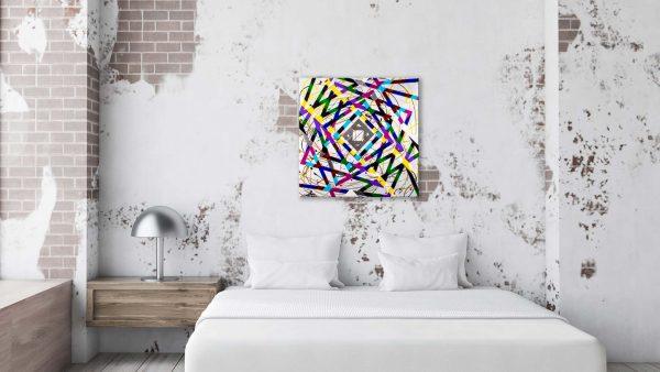 Timewarp Abstract Art Bedroom