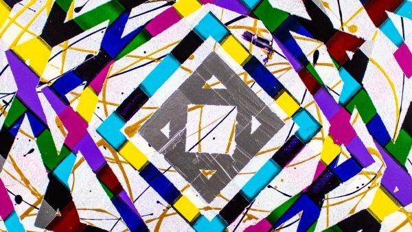 Timewarp Abstract Art Detail