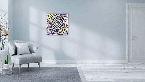 Timewarp Abstract Art Sitting Room